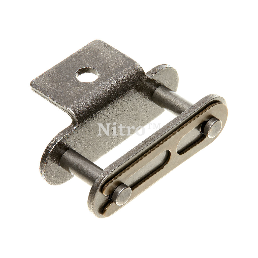 C2080H A1 Attachment Link - Conveyor Roller Chain - One Bent Tab - One Hole