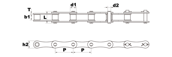 a2050 roller chain diagram