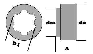 splined weld on hub diagram