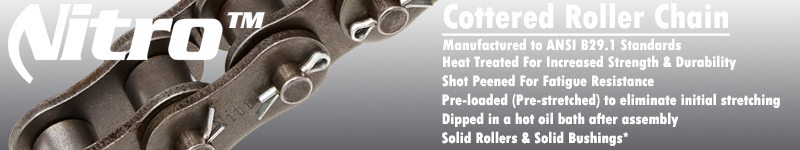 Cottered Roller Chain Benefits