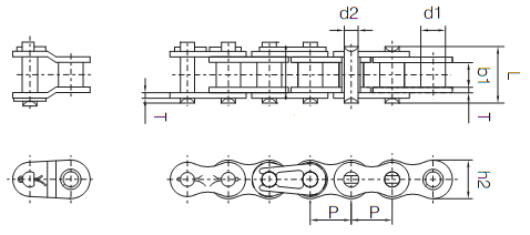 10ft Non Standard Chain Diagram