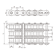 #50-3 X 10FT Triple Strand Roller Chain (Triplex)